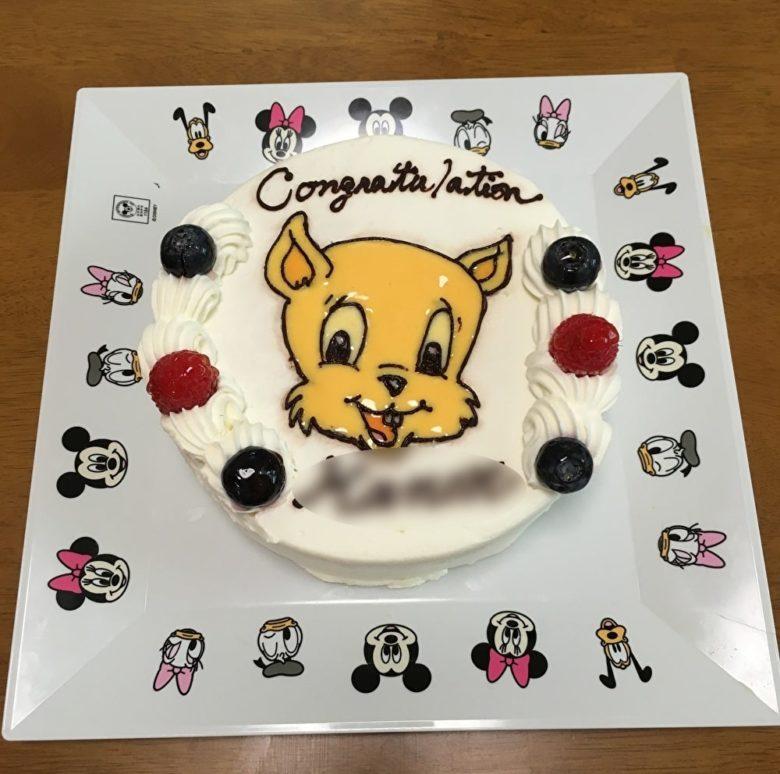 ライトブルーCAPキャラクターケーキ