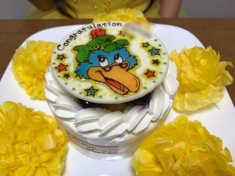 YellowCAPクラムキャラクターケーキ